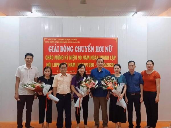 Bệnh viện đa khoa Xín Mần tổ chức Giải bóng chuyền hơi kỷ niệm 90 năm ngày thành lập Hội Phụ nữ Việt Nam 20/10/1930-20/10/2020
