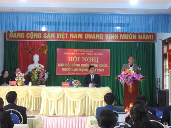 Hội nghị Cán bộ, viên chức và người lao động  Bệnh viện đa khoa huyện Xín Mần năm 2021.