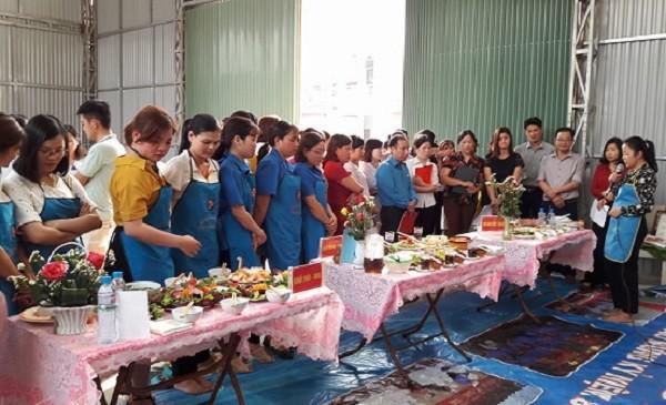 Hội thi nấu ăn chào mừng ngày Quốc tế phụ nữ 8-3