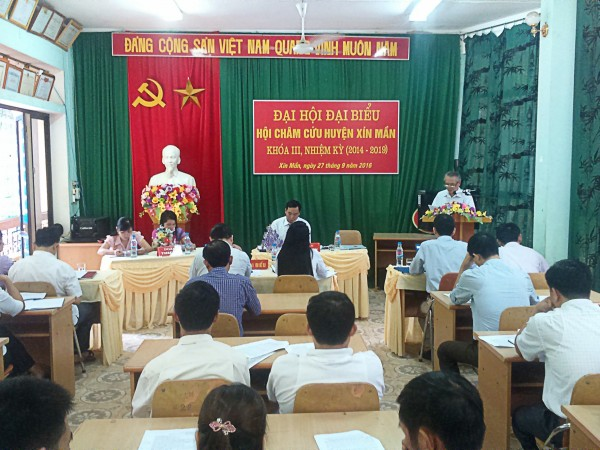 Đại hội đại biểu Hội Châm cứu huyện Xín Mần khóa III, nhiệm kỳ 2014-2019.