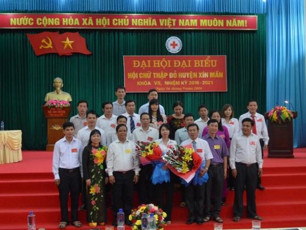 Đại hội Đại biểu Hội Chữ thập đỏ huyện Xín Mần lần thứ VII nhiệm kỳ 2016-2021